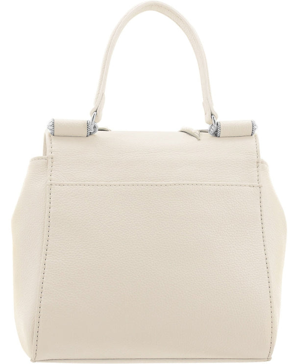 White multi Brighton H36172 Dayla Top Handle Cross Body made of soft white leather and two handle