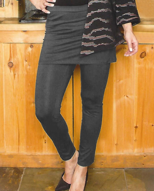Pure Essence 210-2502 Charcoal Legging With Skirt