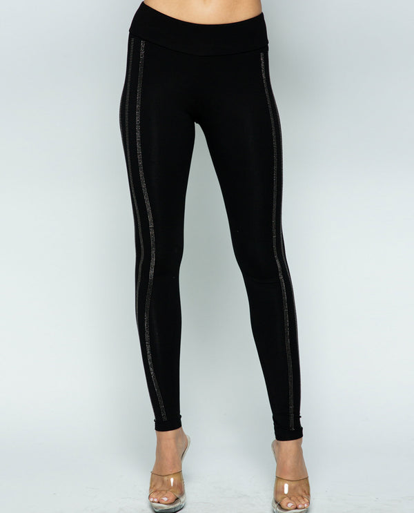 Vocal IM1481P Leggings with Stones Black