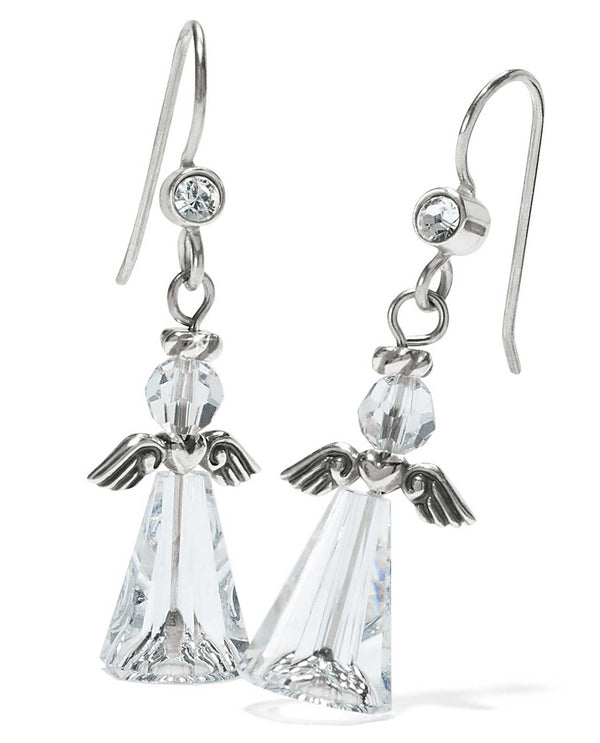 Brighton JA4443 Tinsel Town Angel French Wire Earrings