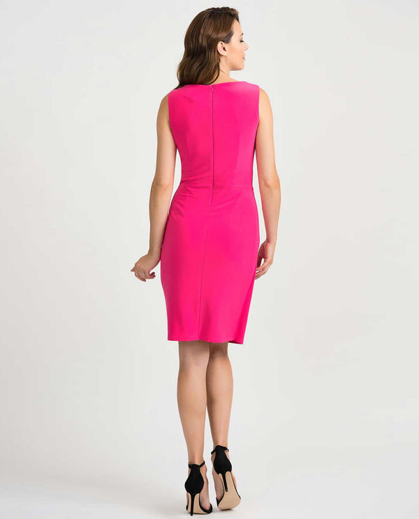 Joseph Ribkoff 201476 Sleeveless Knot Dress Pink