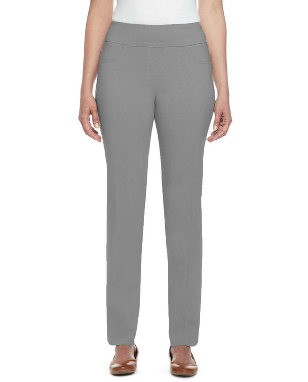 Ruby Rd 70309 Pull On Tech Ankle Pant Grey