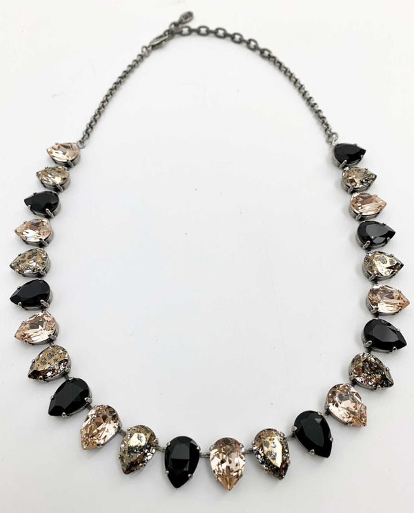 Custom Black and Silk Necklace By Rachel Marie Designs