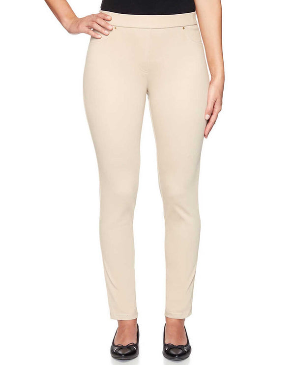 Ruby Rd 47700 Pull On Twill Pants Biscuit