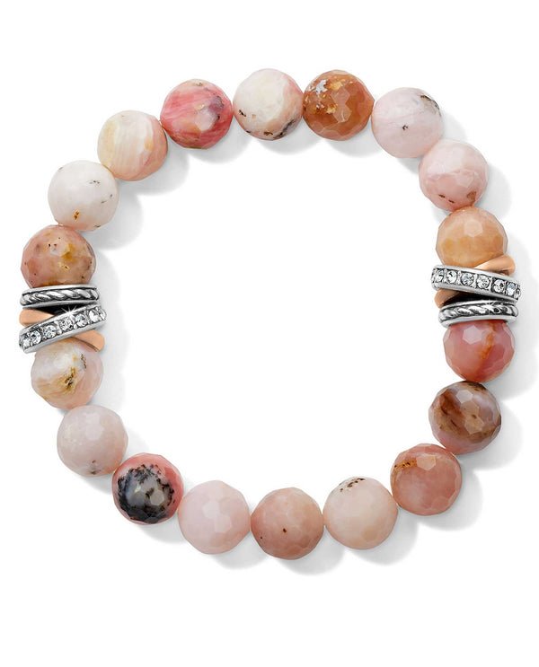 Brighton JF742F Neptune's Rings Pink Opal Stretch Bracelet
