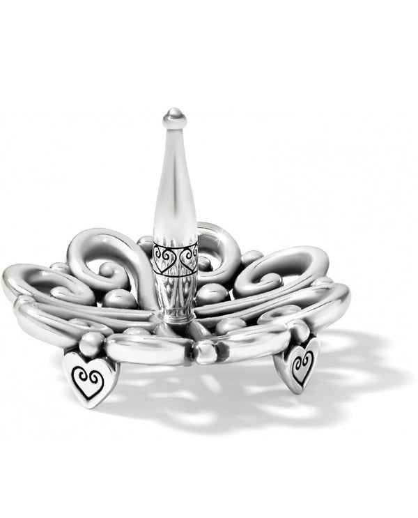 Silver Brighton G82290 Alcazar Ring Holder with alcazar hearts on the top and bottom