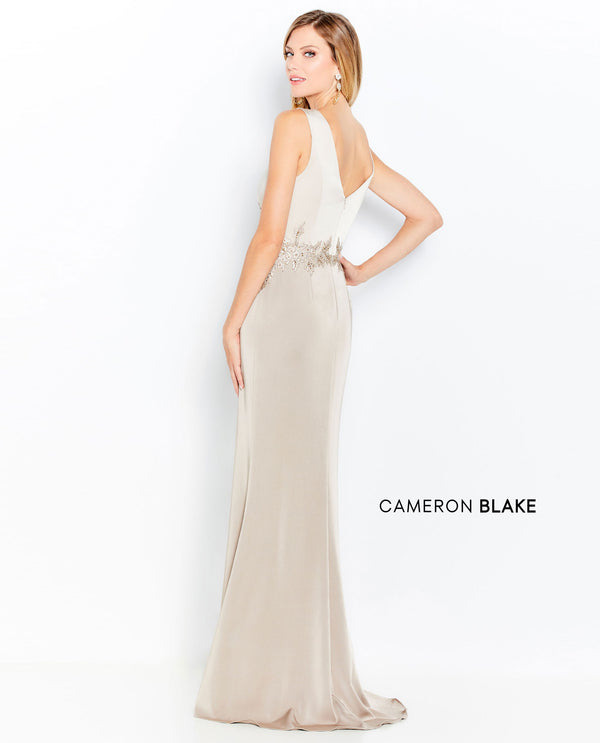 Cameron Blake 120611 Two Tone Lace Waist Gown Champagne