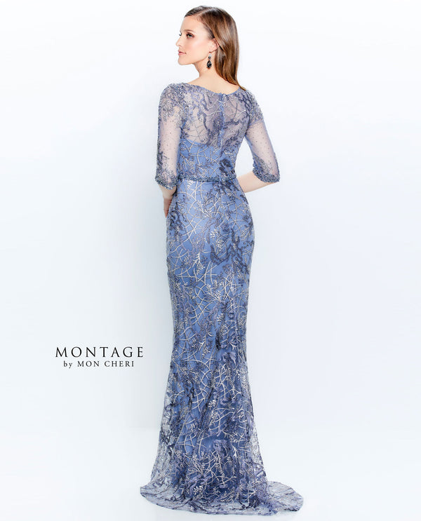 Montage 120924 Beaded Embroidered Lace Gown DLPH