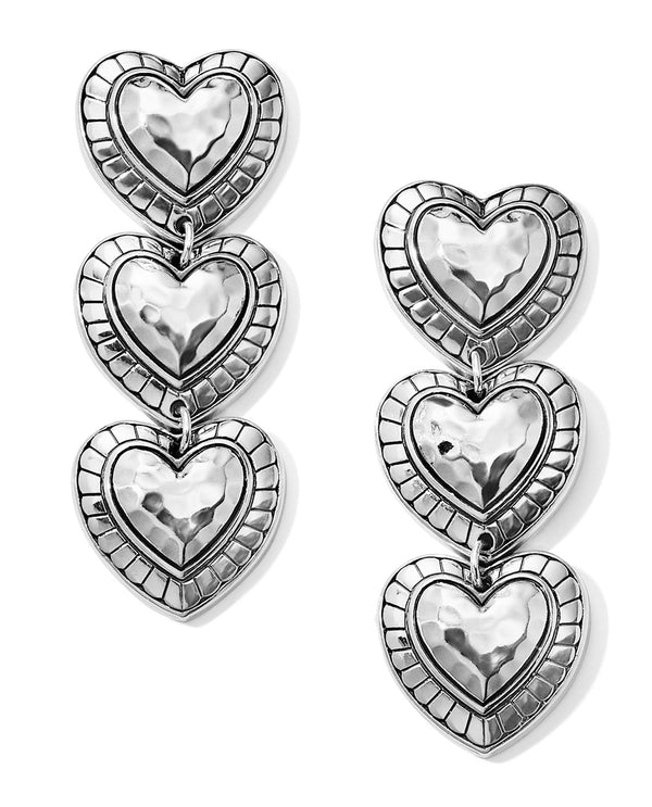 Brighton JA6380 Big Sky Heart Post Drop Earrings