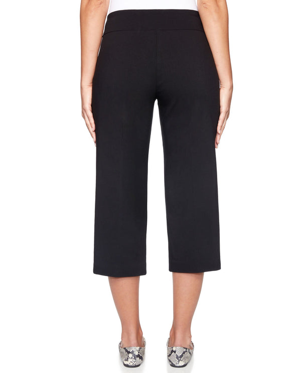 Ruby Rd 92390 Pull On Tech Capri Petite Black