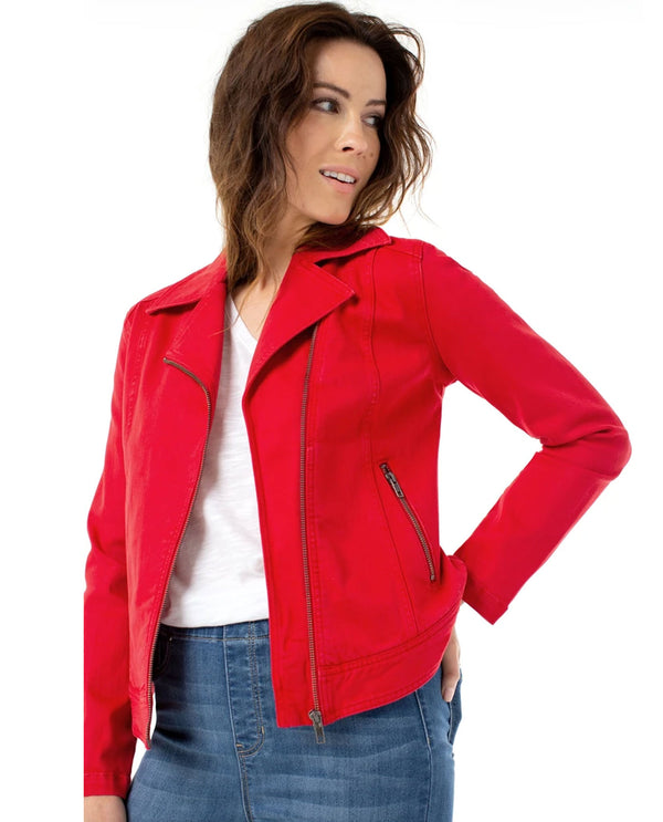 Liverpool Jeans LM1671WF Clean Moto Jacket Red