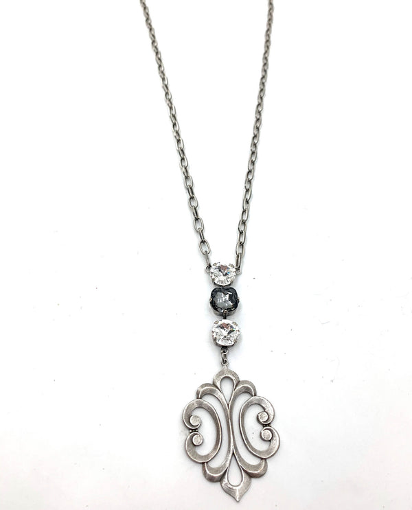 Scroll Pendant Necklace By Rachel Marie Designs