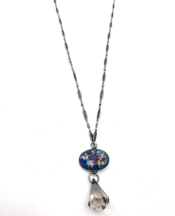 Handpainted Glass Necklace By Rachel Marie Designs
