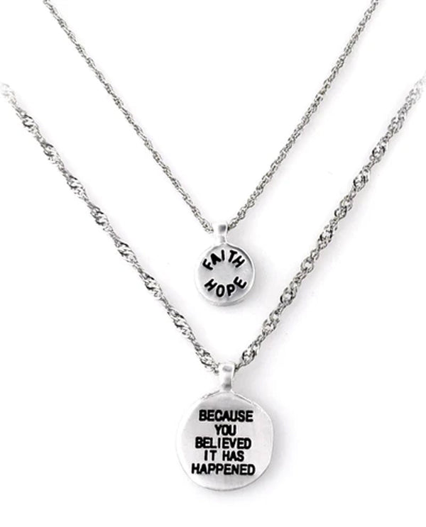 Good Works NK122RV Courage Necklace Silver