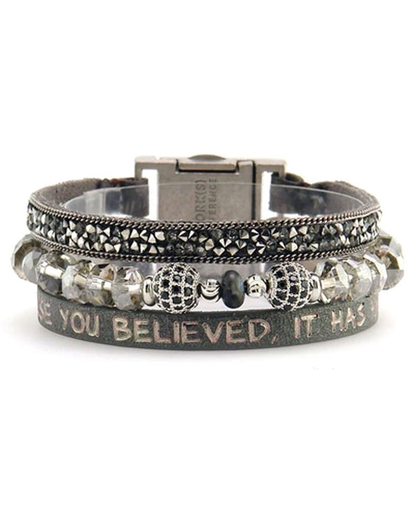 Good Works ATS805 Because You Believed Bracelet Gun Metal