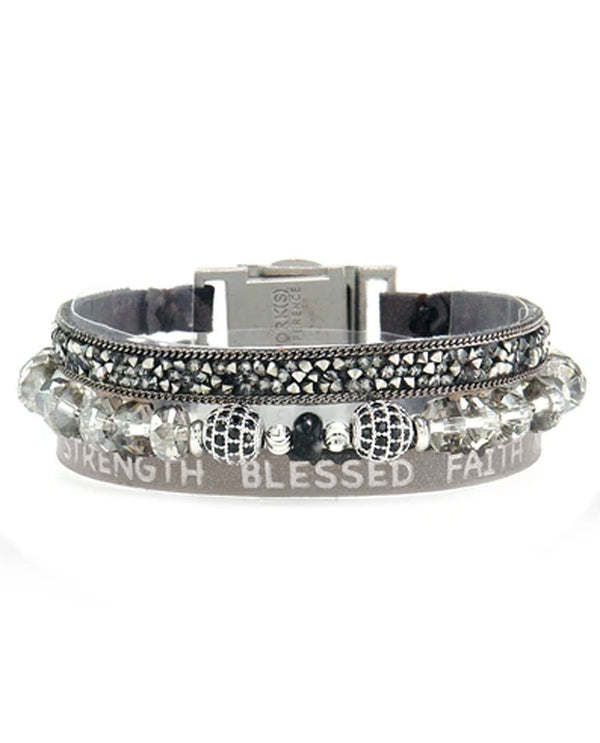 Good Works ATS805 Hope and Strength Bracelet Dark Grey