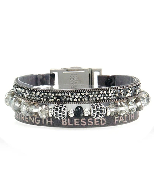 Good Works ATS805 Hope and Strength Bracelet Pewter