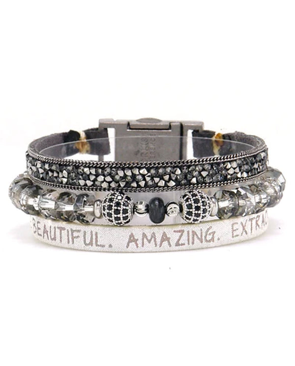 Good Works ATS805 You Are Beautiful Bracelet Silver