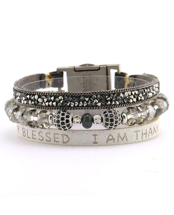 Good Works ATS805 I Am Blessed Bracelet Silver