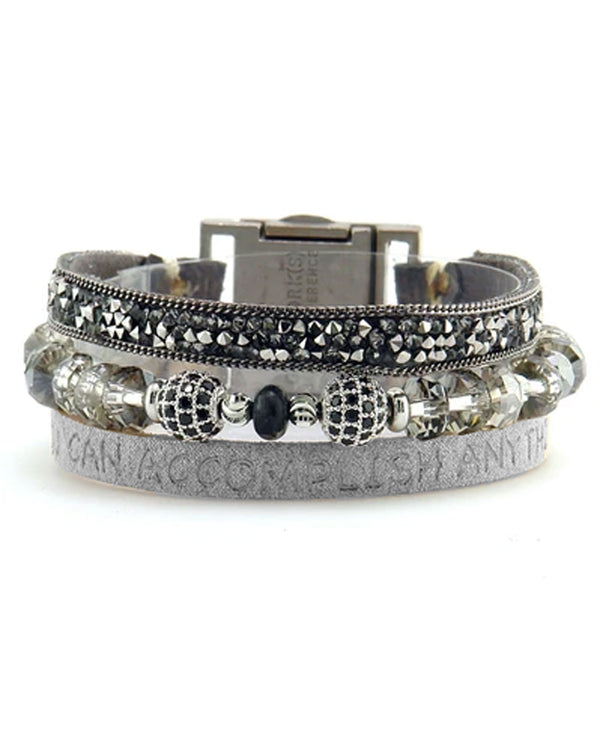 Good Works ATS805 You Can Accomplish Bracelet Charcoal