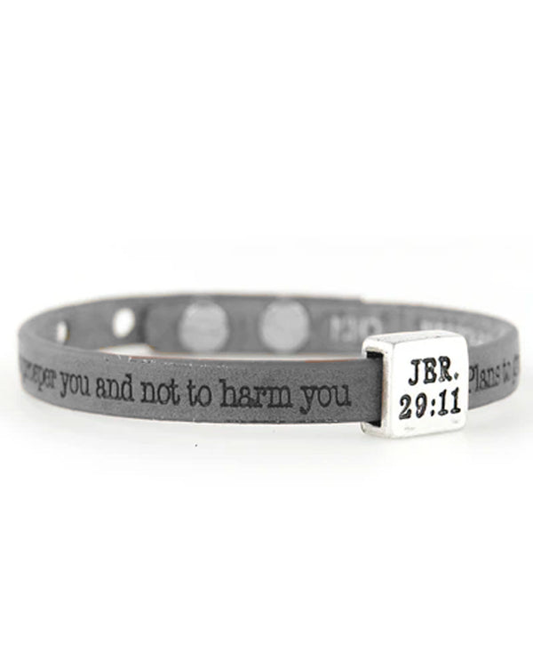 Good Works ASP4452911 Jeremiah 29:11 Bracelet Charcoal