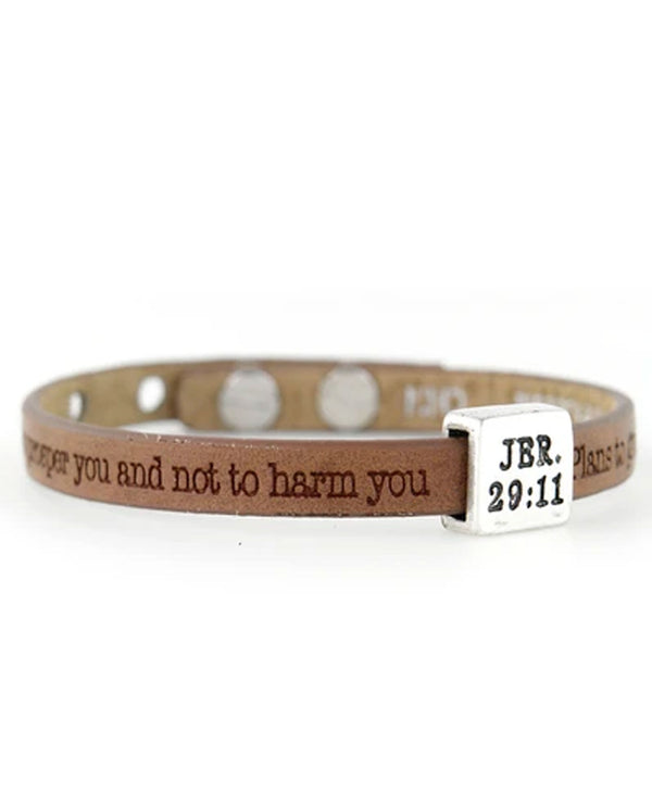 Good Works ASP4452911 Jeremiah 29:11 Bracelet Cocoa