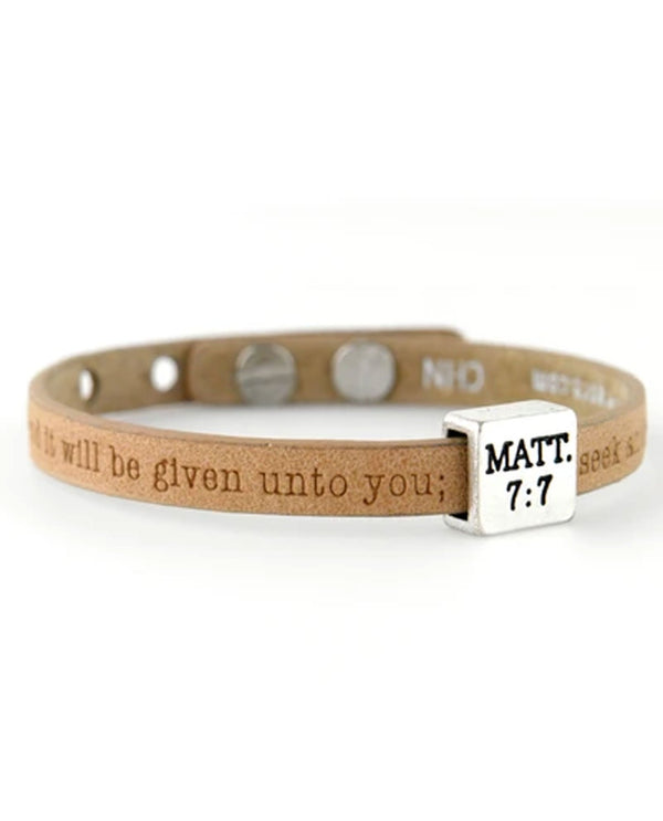 Good Works ASP44577 Matthew 7:7 Bracelet Hony