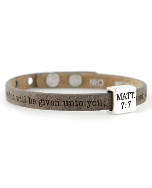 Good Works ASP44577 Matthew 7:7 Bracelet Earth_159