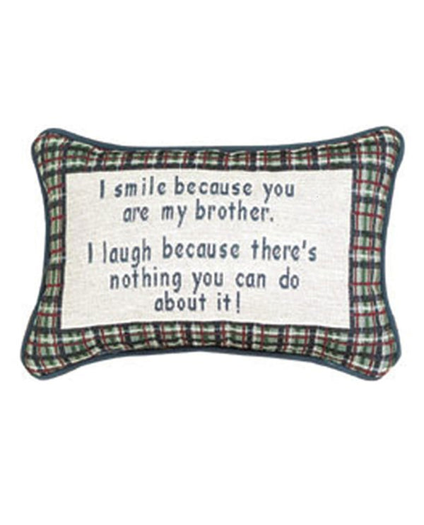 Manual Woodworkers & Weavers TWILBB I Smile - Brother Pillow
