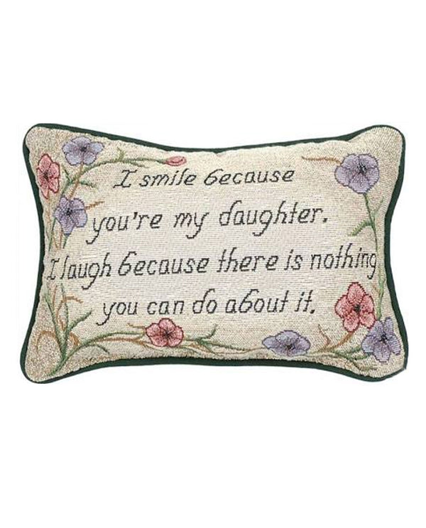 Manual Woodworker & Weavers TWISBD I Smile-Daughter Pillow