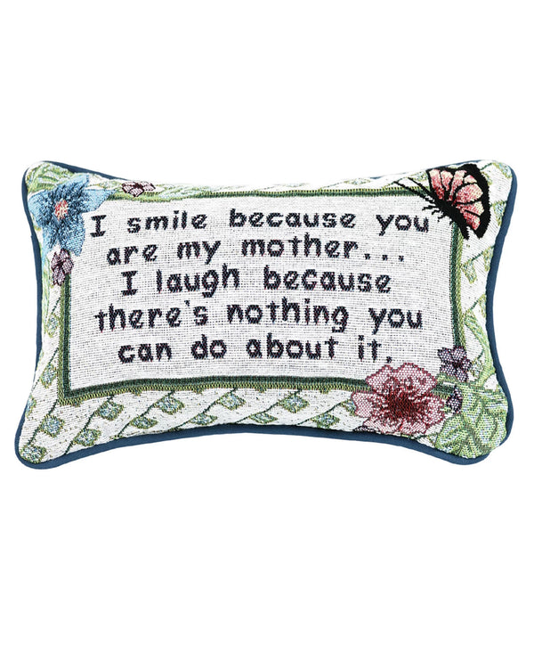 Manual Woodworker & Weavers TWISBM I Smile-Mother Pillow