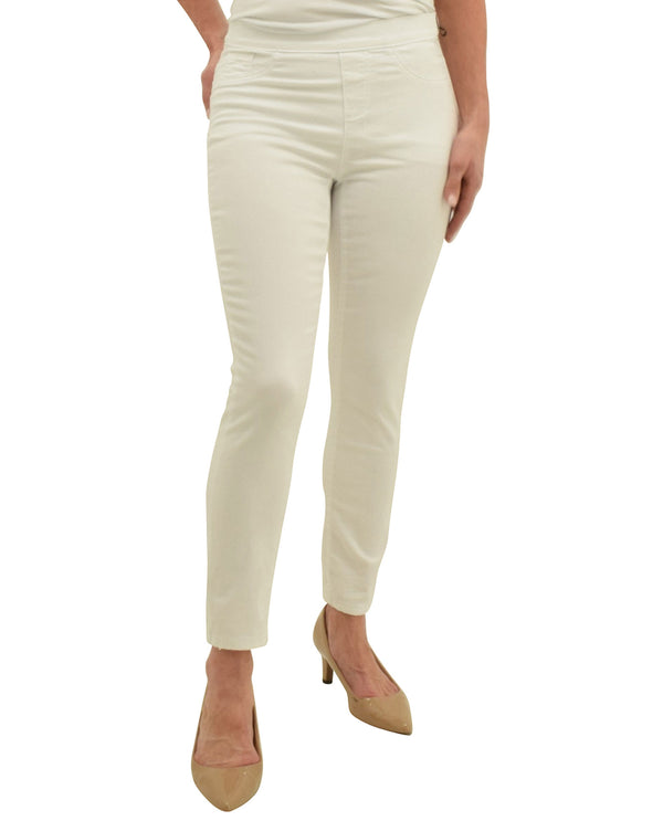 Charlie B C5146R-618A Twill Pull On Pant White