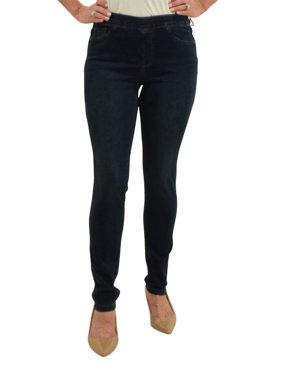 Charlie B C5125CR-553A Stretch Pull On Jeans Indigo