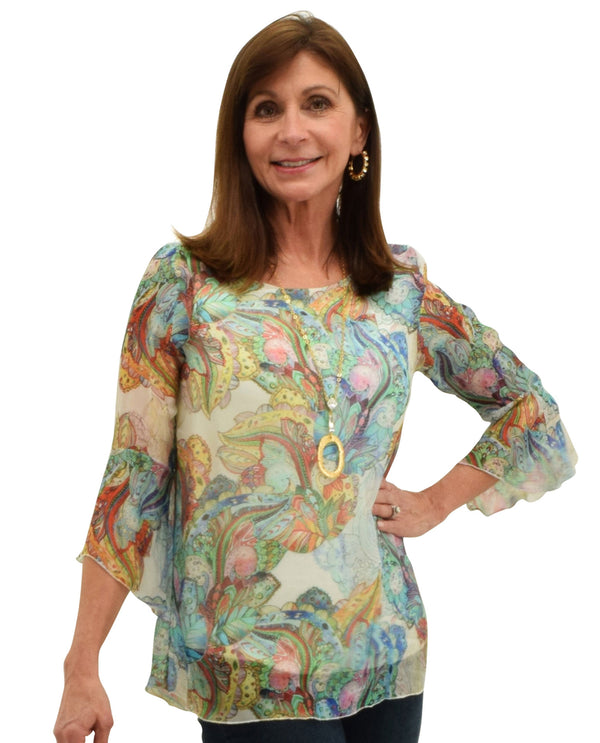 Charlie B C4179XR-441A Multi Print Top