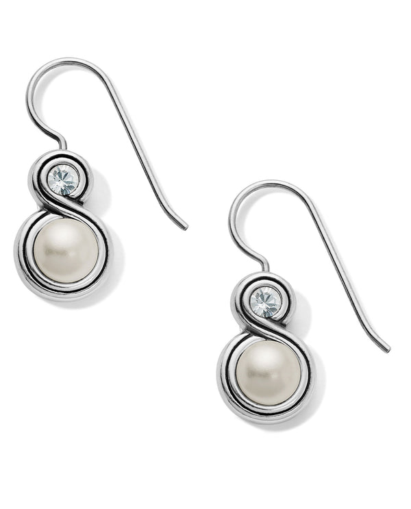 Brighton JA6293 Infinity Pearl French Wire Earrings