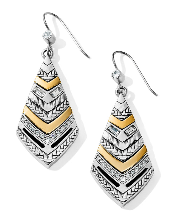 Brighton JA6473 Tapestry Kite French Wire Earrings