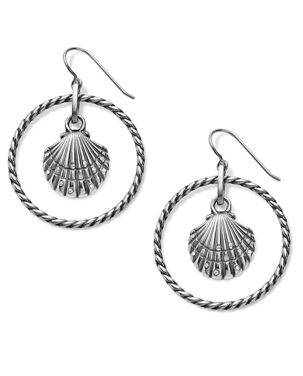 Brighton JA6491 Sea Shore Shell French Wire Earrings