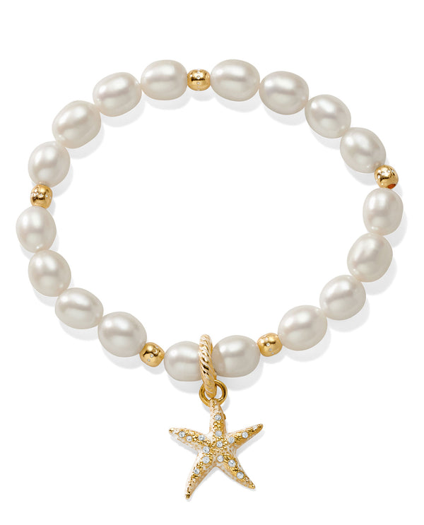 Brighton JF7493 Sea Shore Pearl Starfish Stretch Bracelet