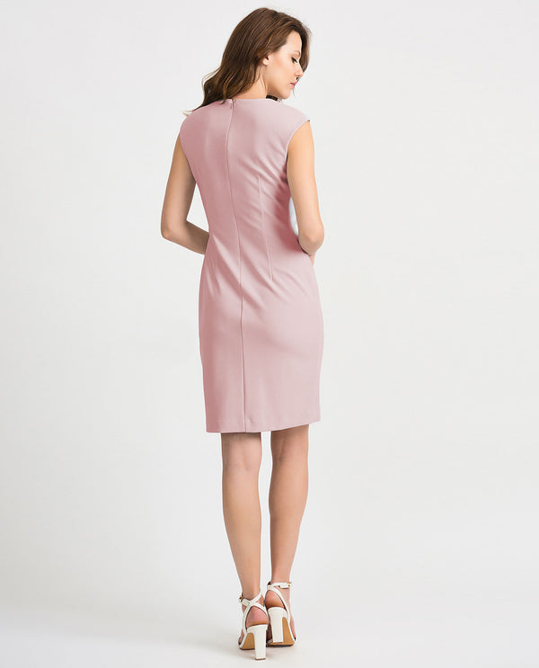 Joseph Ribkoff 201218 Pearl Detail Sleeveless Dress Rose