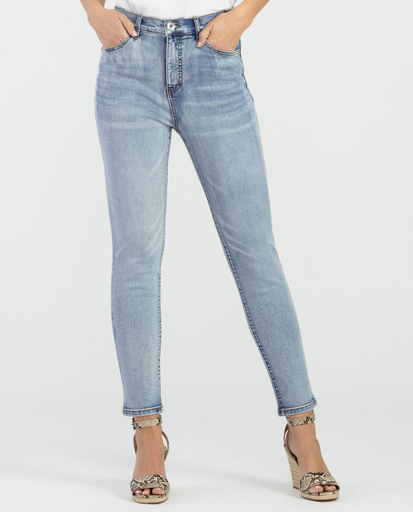 Tribal 6533O-292 Brooke 5 Pocket Hi-Rise Ankle Jeans Blue Stone