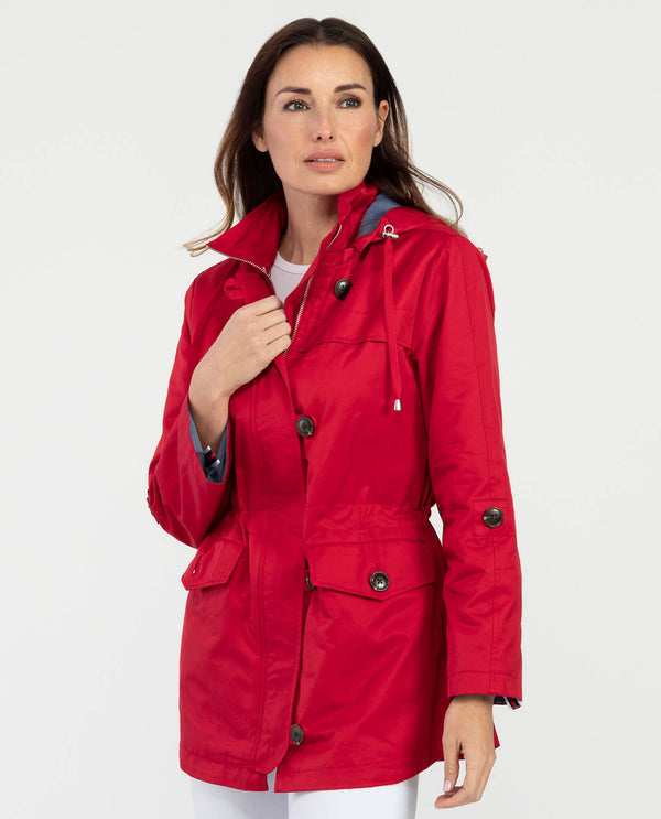 Tribal 3726O-2938 Jacket with Detachable Hood  Red
