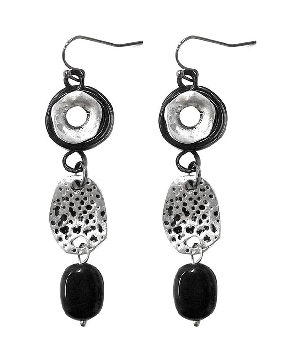 Treska FRY7071 Friday Night! Linear Linked Drop Earrings