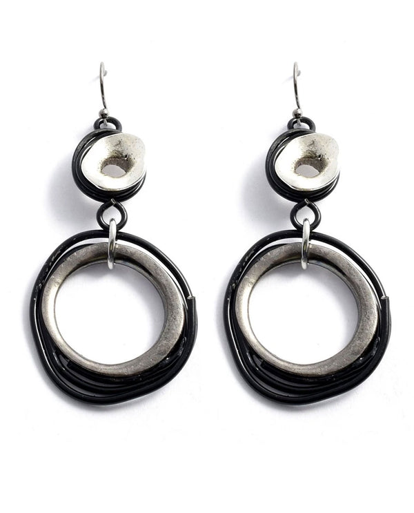 Treska FRY7041 Friday Night! Wrapped Rings Drop Earrings