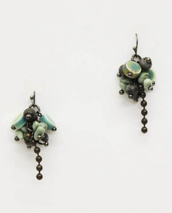 Treska STO8021 Storm Cloud Small Cluster Drop Earring
