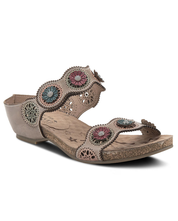 L'Artiste by Spring Step Markita Slide Sandals Grey