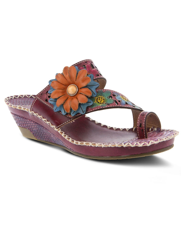 L'Artiste by Spring Step Vardi Slide Sandals Purple