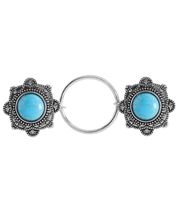 Coco + Carmen 1935050B Fashion Fastener Turquoise Shield