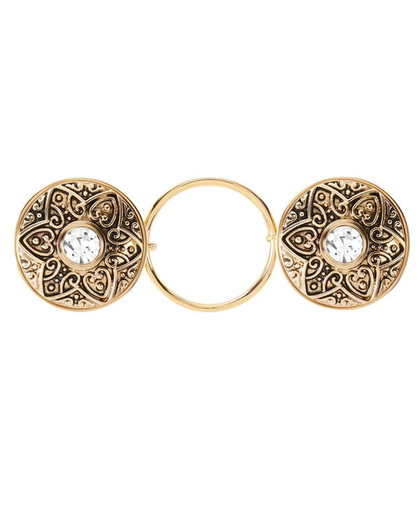 Coco + Carmen 2015035B Fashion Fastener Gold Flower
