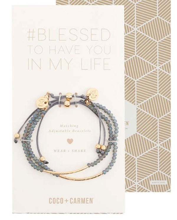 Coco + Carmen 1835035B Blessed Friendship Bracelet