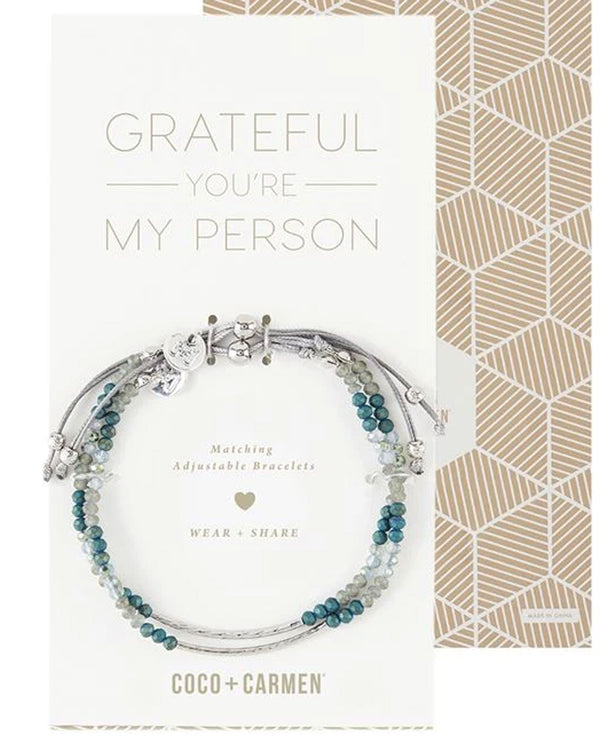 Coco + Carmen 1845035D Grateful Friendship Bracelet